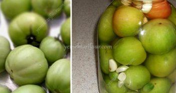 yeşil domates turşusu tarifi