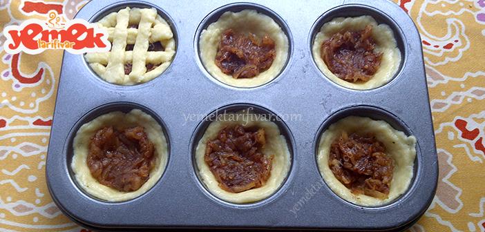 elmalı mini turta yapımı