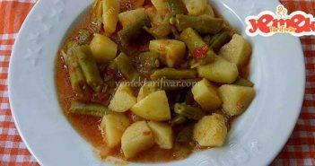 patatesli yeşil fasulye yemeği tarifi