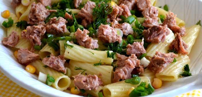diyet-ton-balikli-makarna-salatasi Diyet Ton Balıklı Makarna Salatası