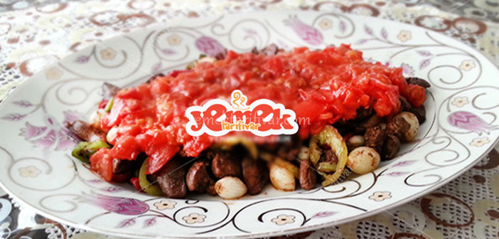 domates soslu ciğer sote tarifi