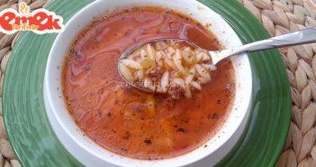 kıymalı biberli arpa şehriye çorbası