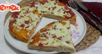 salamlı pizza tarifi