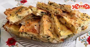 hazır yufkadan peynirli tepsi böreği