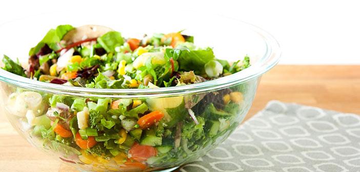 lezzetli bir salata için