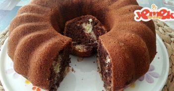 iki renkli kolay pamuk kek tarifi
