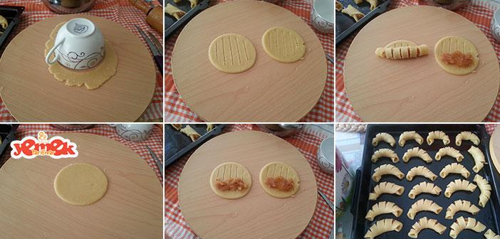 şerit elmalı kurabiye yapılışı