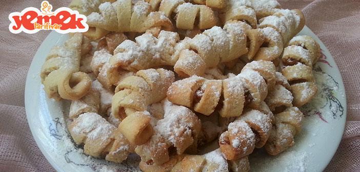 şerit elmalı kurabiye