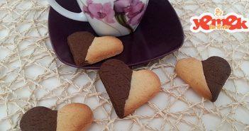 iki renkli kalpli kurabiye tarifi