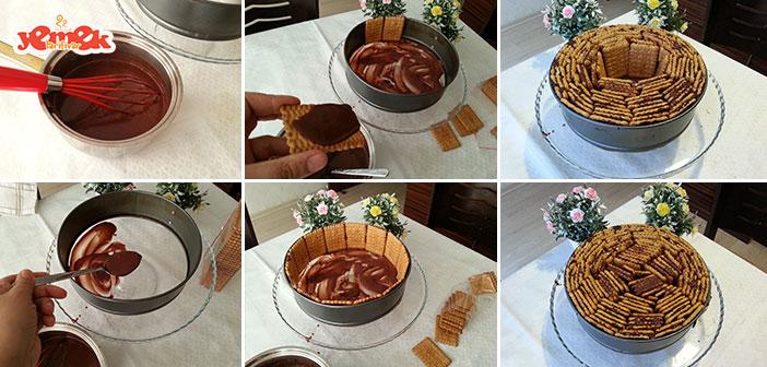 kalıpta biskuvili pasta