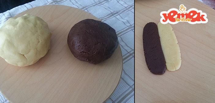 oktay usta iki renkli kalpli kurabiye