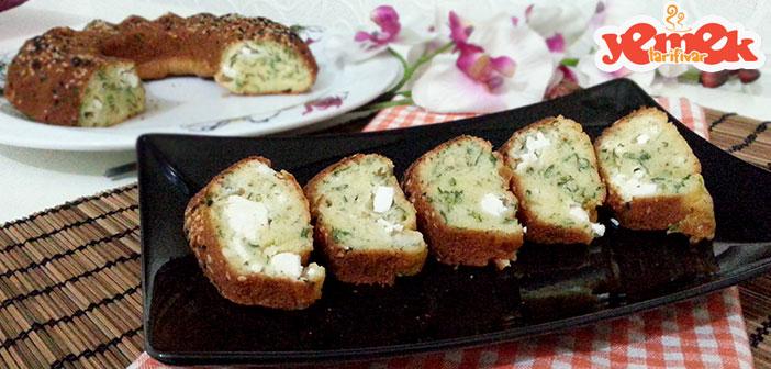 peynirli-maydanozlu-kek-yapilisi Peynirli Tuzlu Kek Tarifi