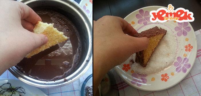 kakao-soslu-ucgen-kek Kolay Üçgen Kek Tarifi