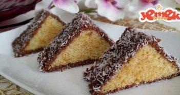 kolay uçgen kek tarifi