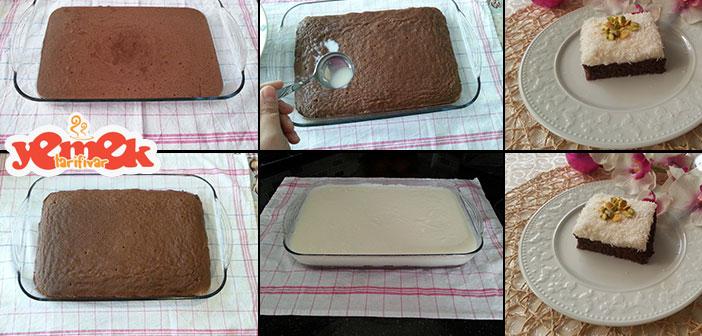 kakaolu-gelin-pastasi-nasil-yapilir Kakaolu Gelin Pastası Tarifi