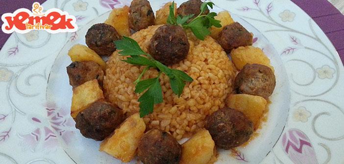 Fırında-patatesli-misket-köfte-tarifi Fırında Patatesli Misket Köfte Tarifi