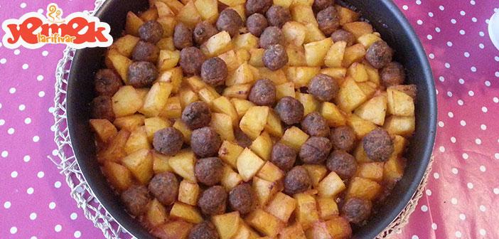 fırında-patatesli-misket-köfte Fırında Patatesli Misket Köfte Tarifi