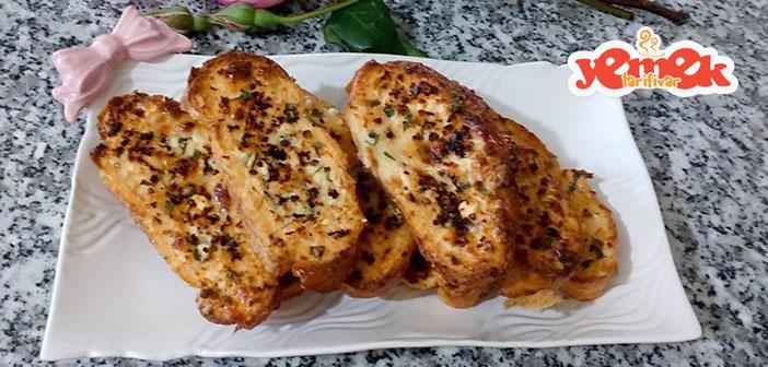 fırında peynirli yumurtalı ekmek