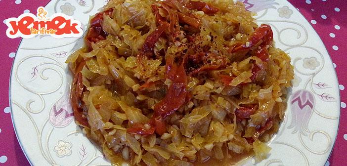kuru-biberli-kapuska-yemegi Kuru Biberli Kapuska Yemeği Tarifi