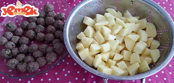 patatesli-misket-köfte Fırında Patatesli Misket Köfte Tarifi