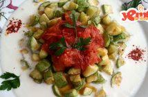 domates soslu kabak kızartması tarifi