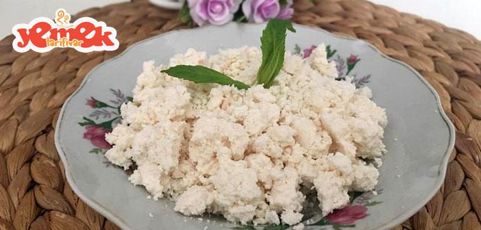ekşi yoğurttan lor peynir yapılışı