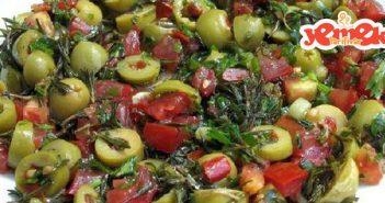 hatay'ın meşhur yeşil zeytin salatası