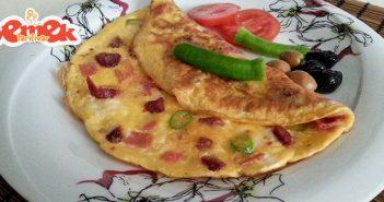 karışık omlet tarifi