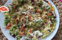 sucuklu karışık omlet tarifi