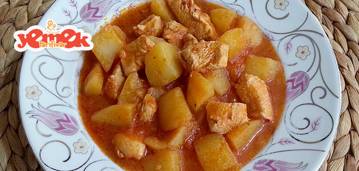 tencerede-tavuklu-patates-yemeği Tencerede Tavuklu Patates Yemeği