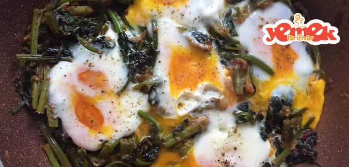 yumurtalı-ıspanak-kavurması-tarifi Yumurtalı Ispanak Kavurması Tarifi