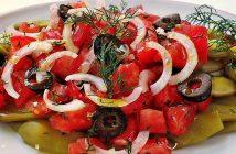 zeytinli yeşil fasulye salatası