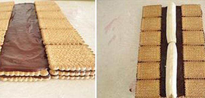 muzlu-piramit-pasta Muzlu Pudingli Piramit Pasta Tarifi